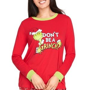 Grinch Don't Be A Grinch T-shirt size XL green red